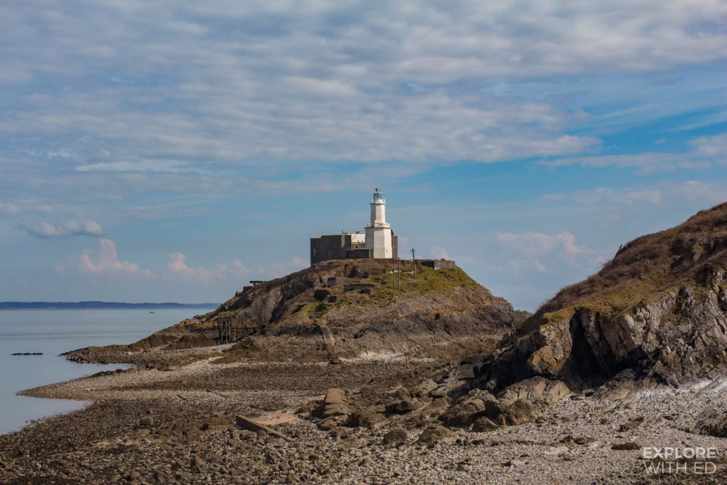 Mumbles lighthouse in Swansea