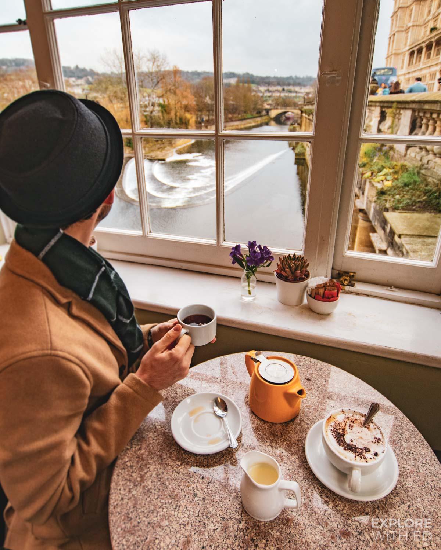 Bridge Coffee Shop in Bath on Pulteney Bridge