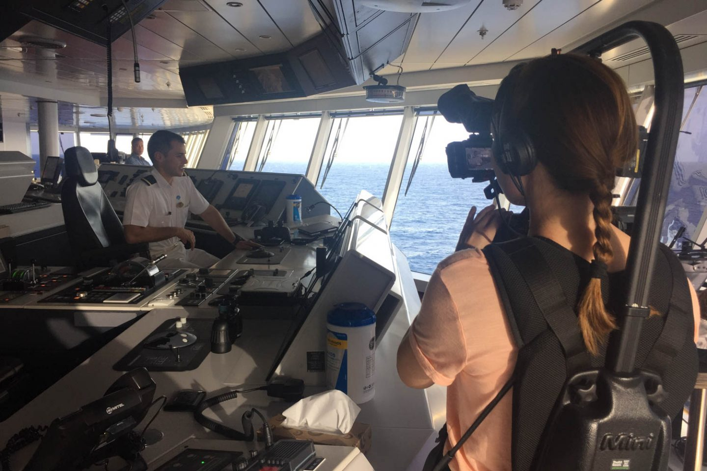 Behind the scenes filming of 'The Cruise' by Princess Cruises