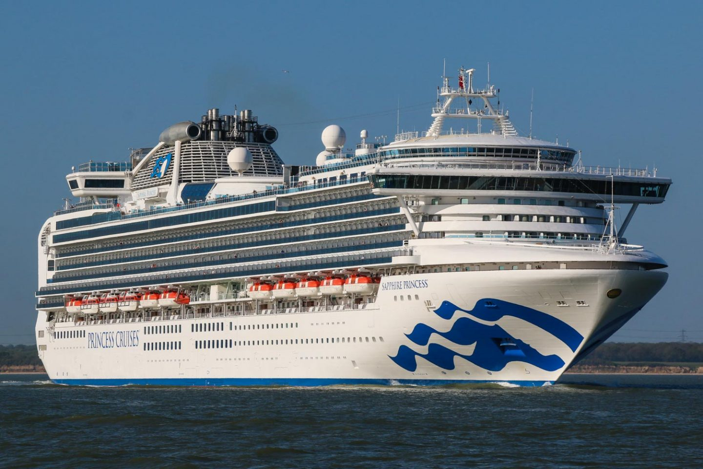 Sapphire Princess. Image supplied by Princess Cruises.