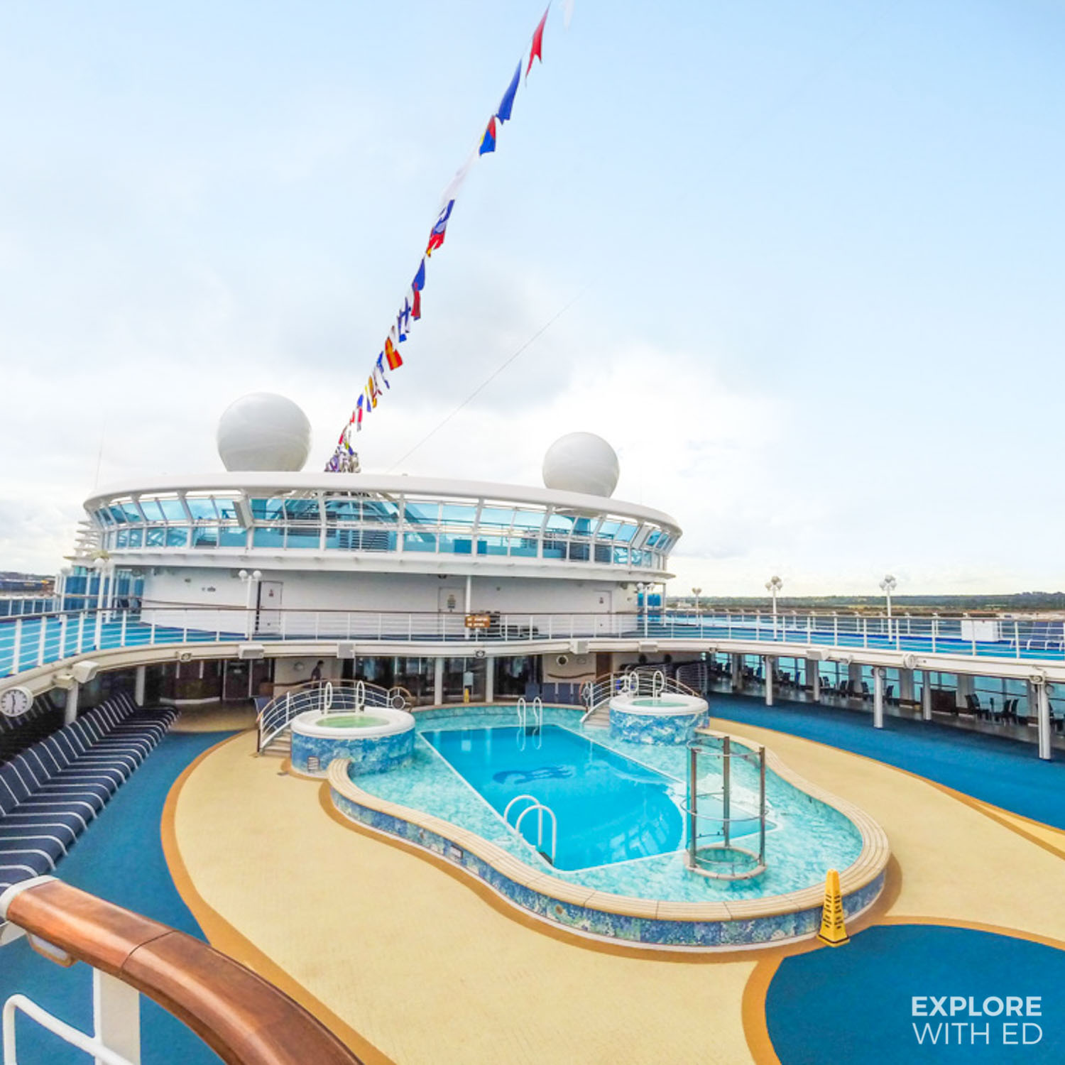 Princess Cruises pool area