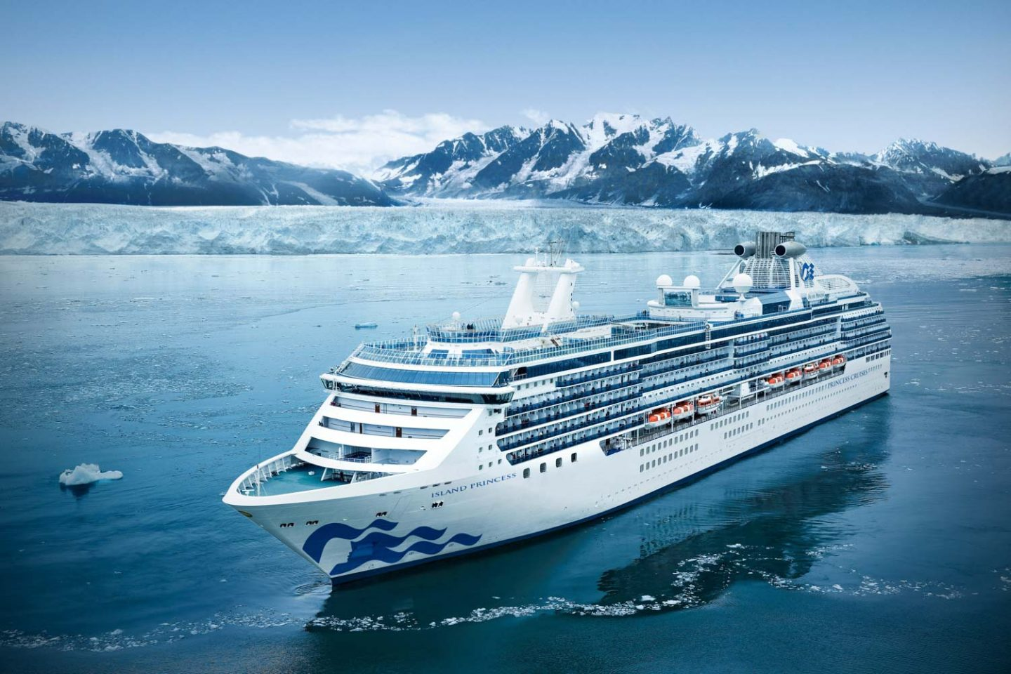 Island Princess, Princess Cruises to Alaska. Image supplied by Princess Cruises.