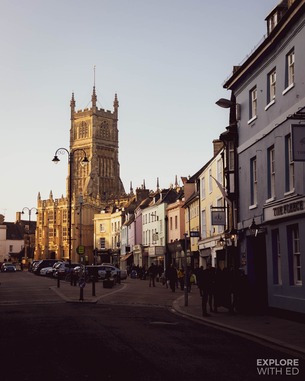 Town centre of Cirencester