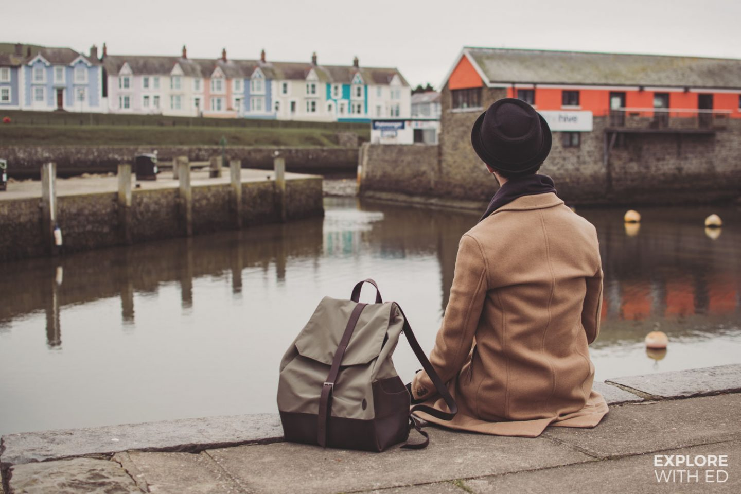 Aberaeron Harbour in Wales, Thorndale Weston Rucksack #ad - gifted