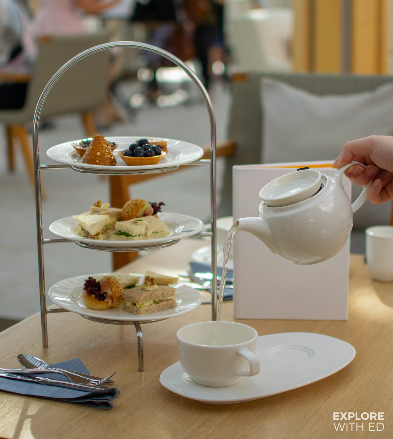 High tea on Viking Cruises