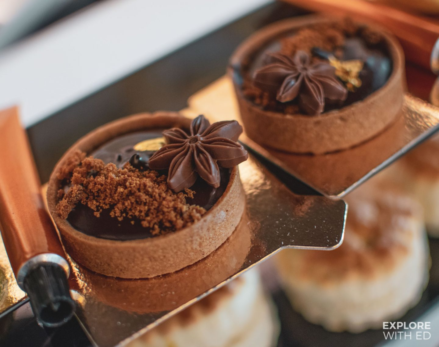 West Indies inspired dark chocolate tart, Eric Lanlard's Afternoon Tea
