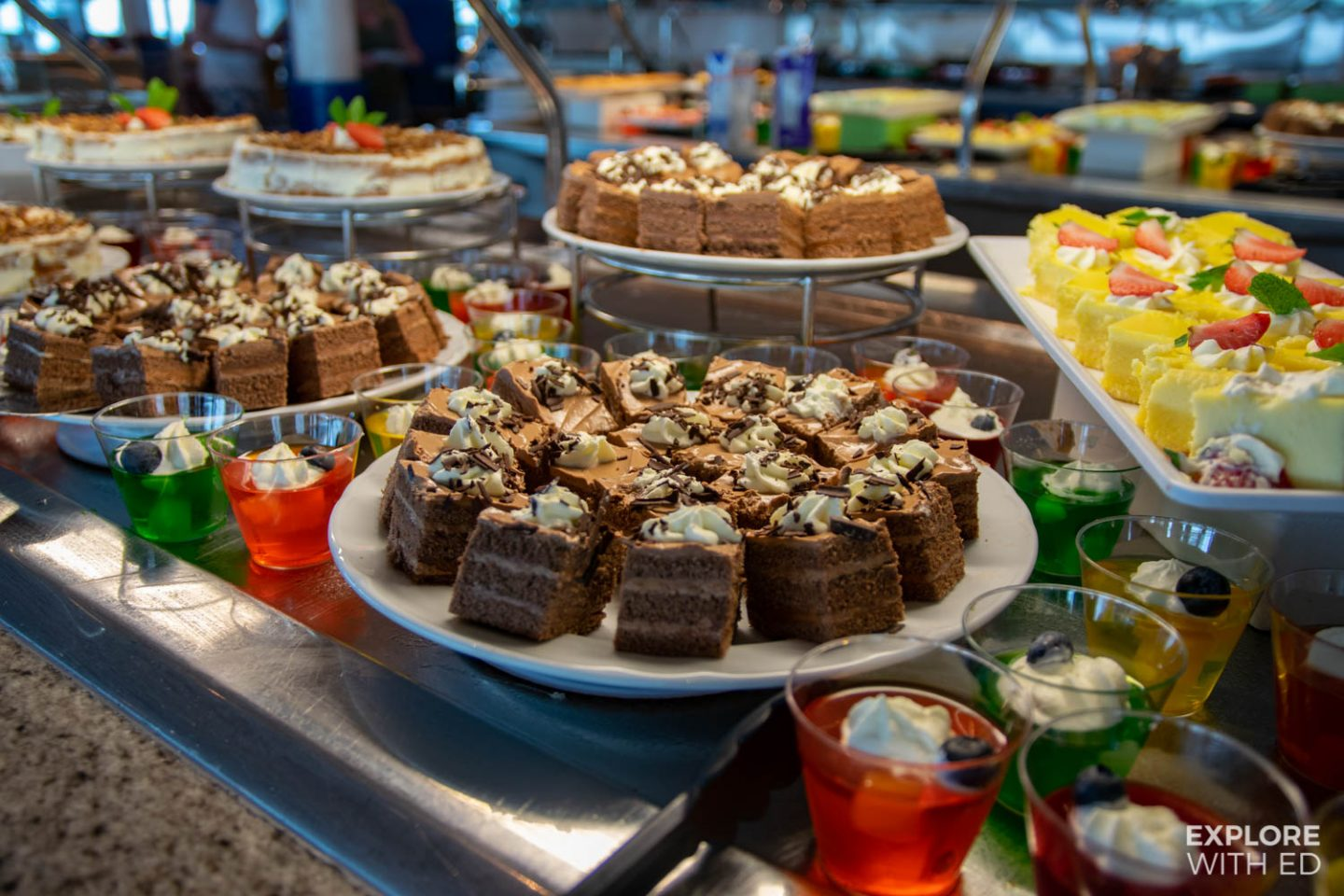 Desserts from the Windjammer Marketplace onboard Royal Caribbean's Independence of the Seas