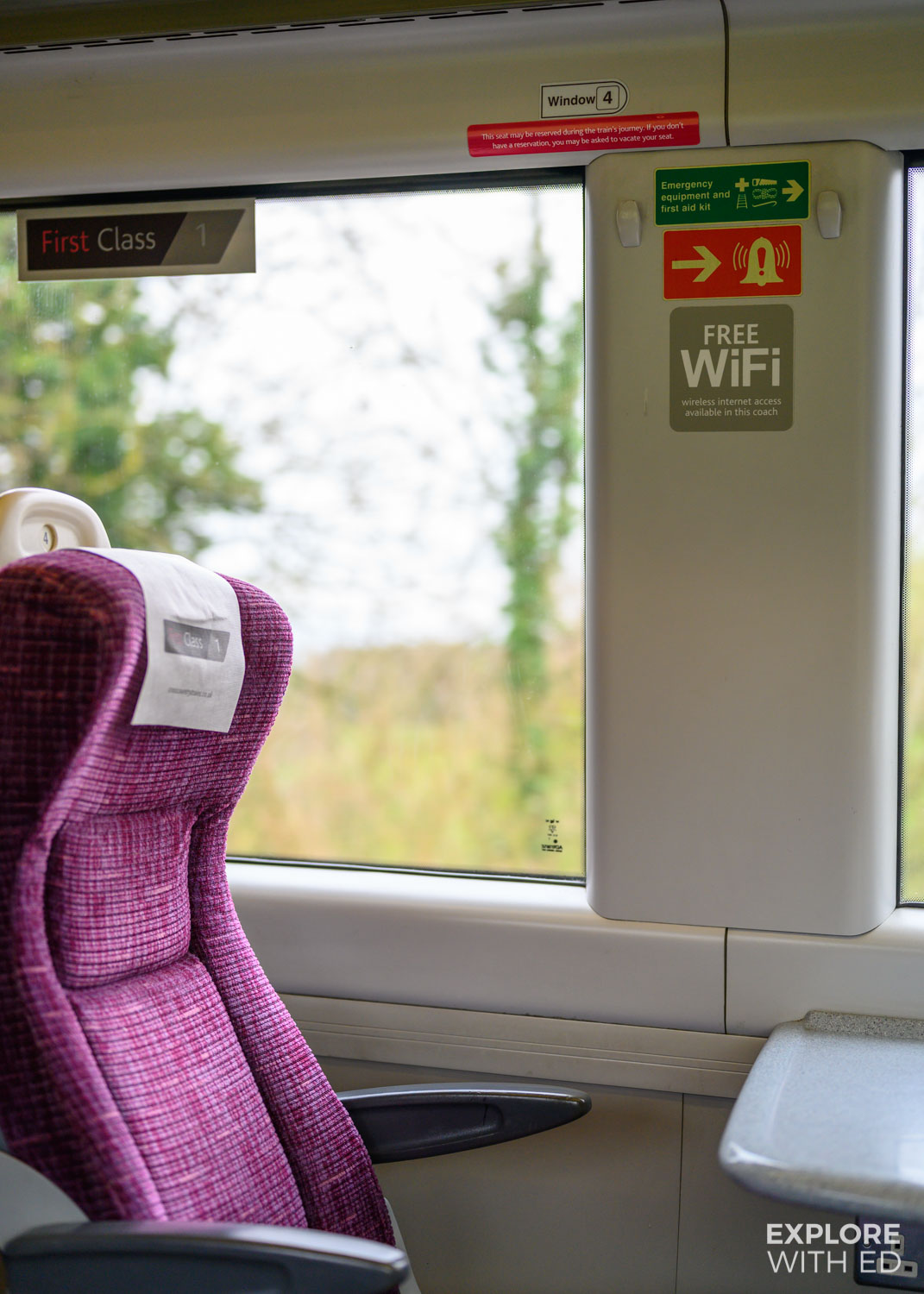 First class area with wifi on CrossCountry Trains {AD}