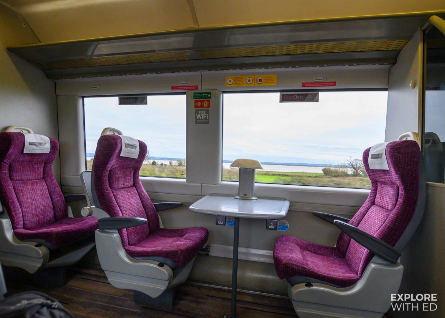 First class area on CrossCountry Train {AD}