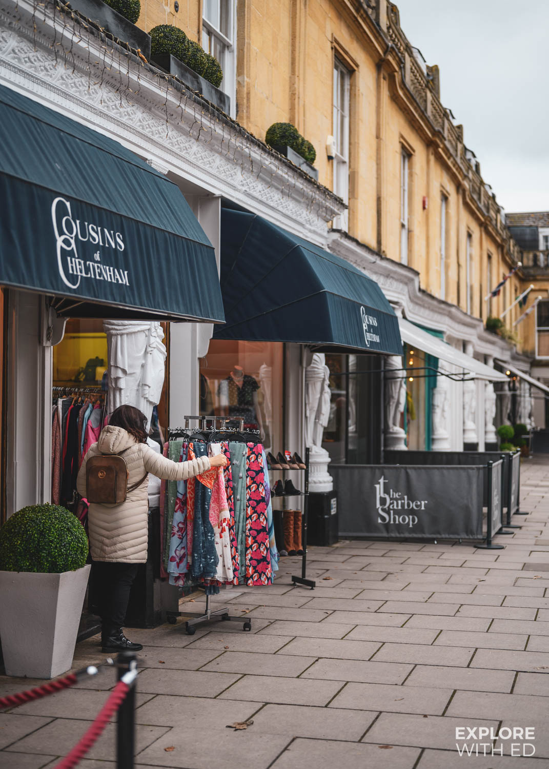 Cousins of Cheltenham and shopping area