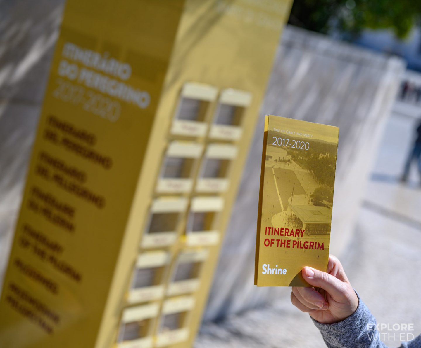 The itinerary of the pilgrim leaflet in Fatima, Portugal