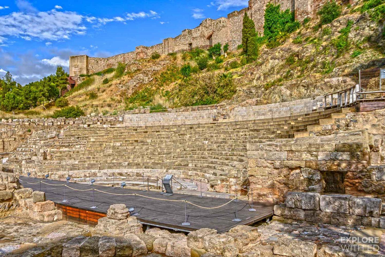 Teatro Romano in Malaga, Spain