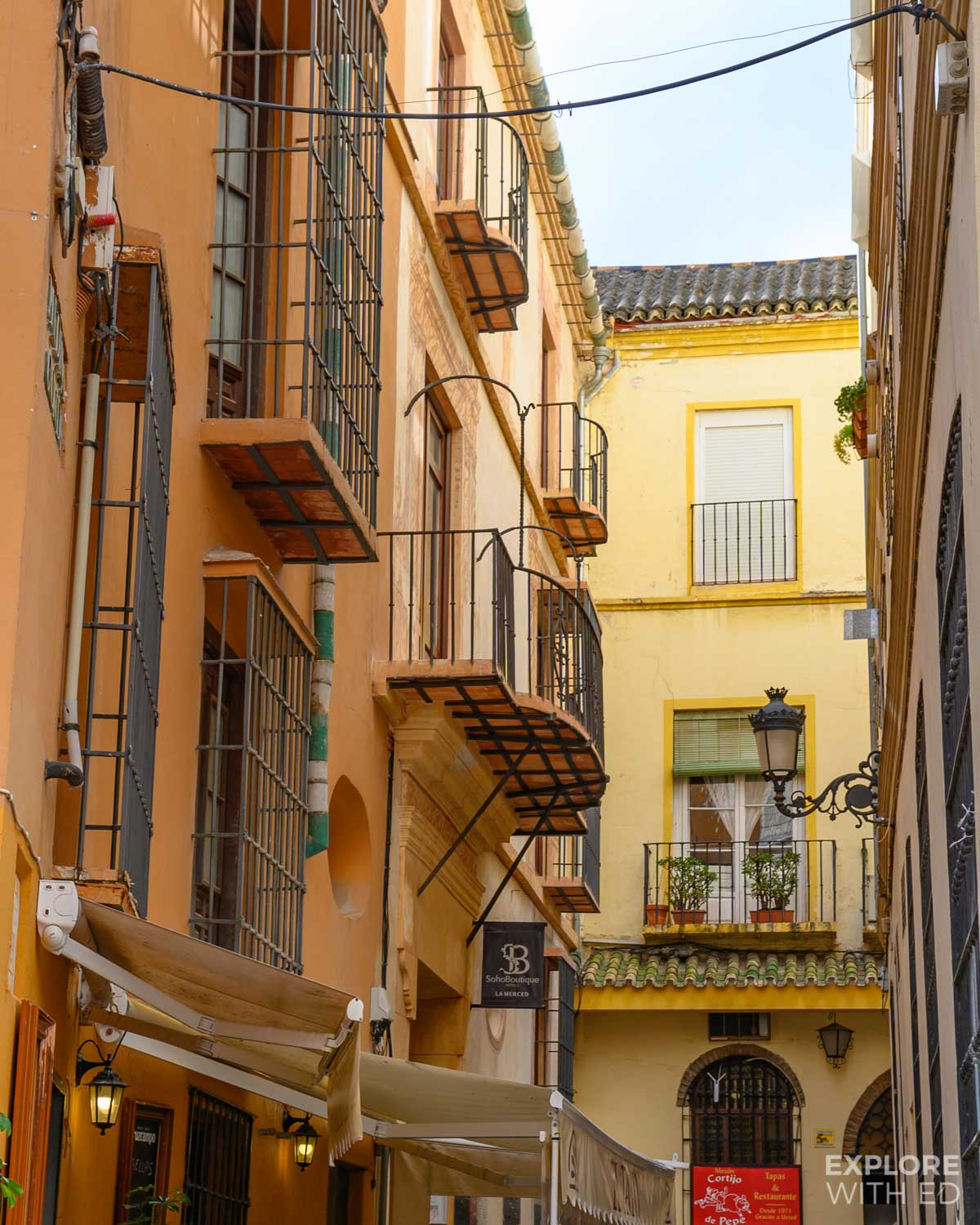Characterful side streets make great photo spots in Malaga, Spain