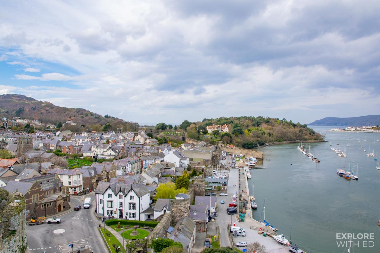 Town of Conwy, north Wales
