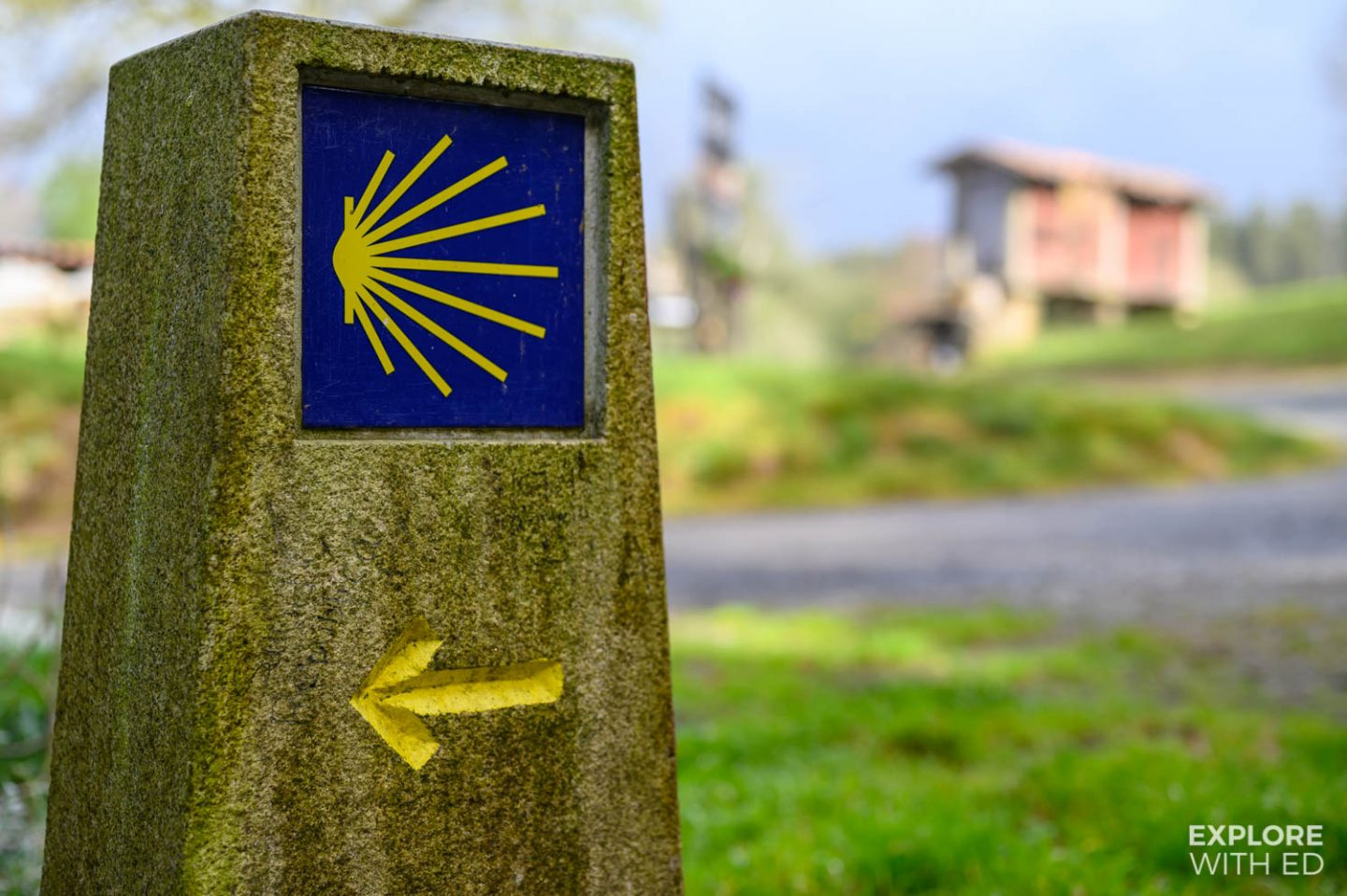 The seashell symbol on Camino de Santiago