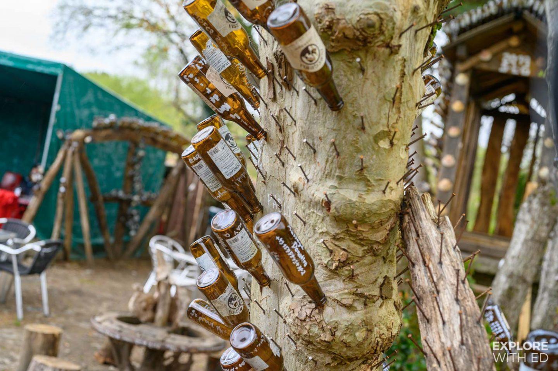 Beer bar stop off for pilgrims near Santiago de Compostela