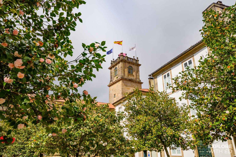 Santiago de Compostela pretty gardens