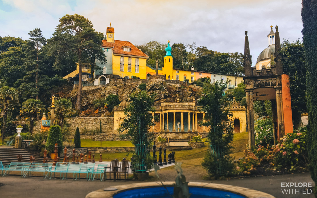 The pretty Italian designed village of Portmeirion in Wales