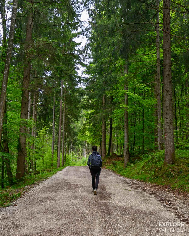 The walking route to Marienbrucke and Neuschwanstein Castle from Hohenschwangau