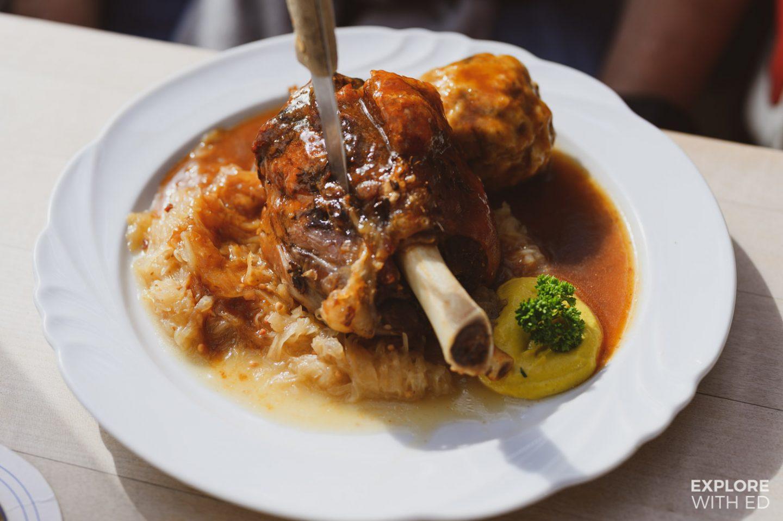 Pork knuckle dinner in Hohenschwangau