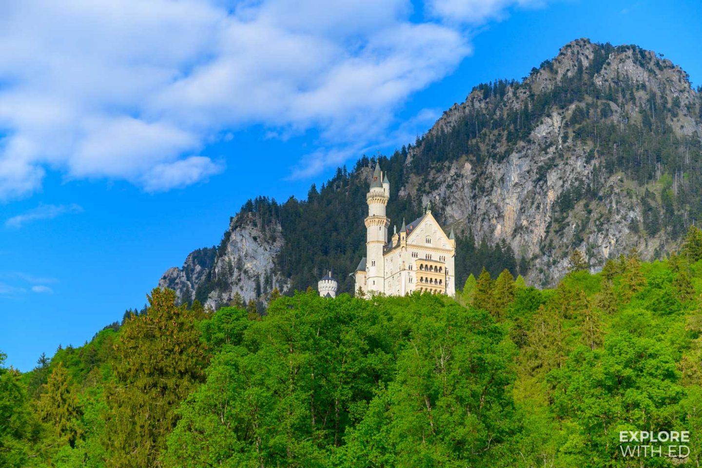 Neuschwanstein Castle from the village of Hohenschwangau