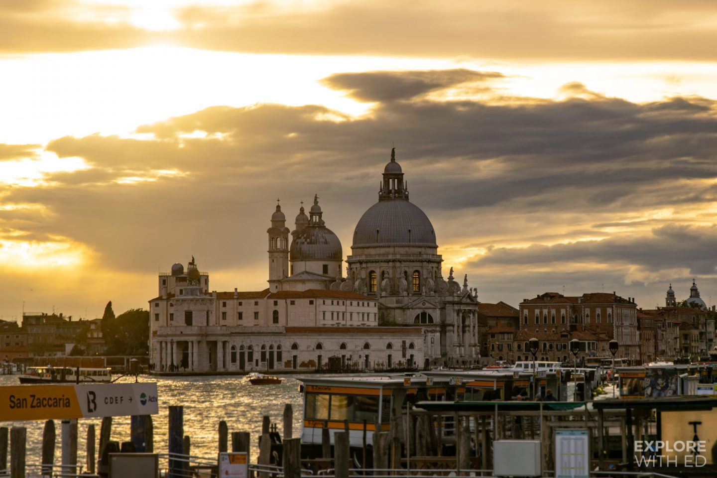 Golden hour in Venice, Italy