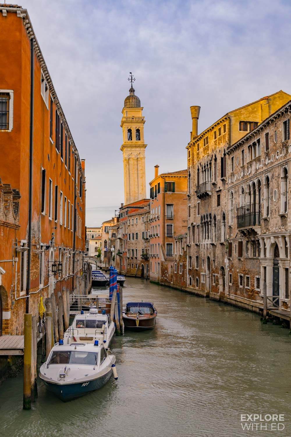The romantic canals of Venice during the golden hour