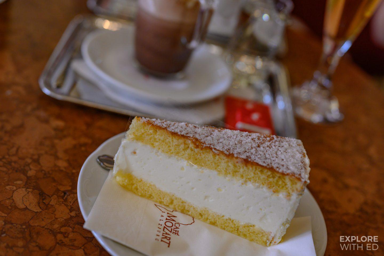 Lunch at Cafe Mozart in Salzburg