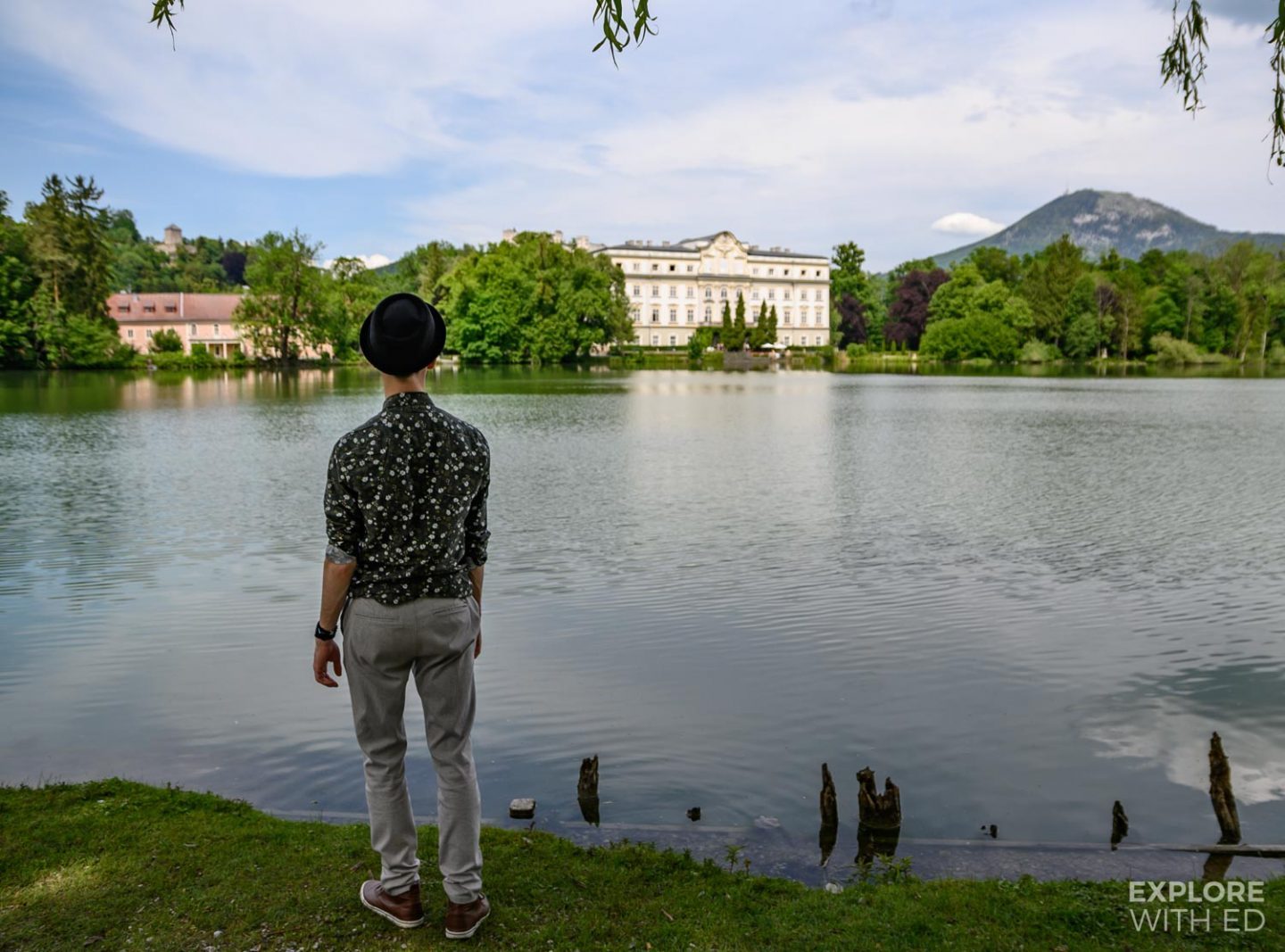 Lake Leopoldskron and hotel, a location for The Sound of Music motion picture