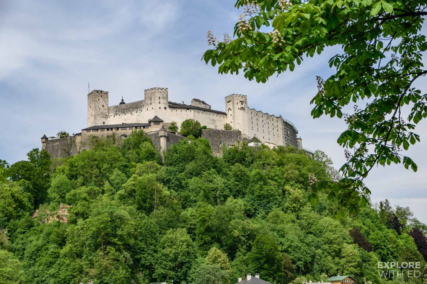 Hill top fortress in Salzburg