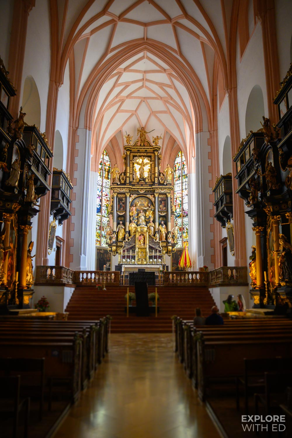 Mondsee Church where Maria and the Captain were married in the film