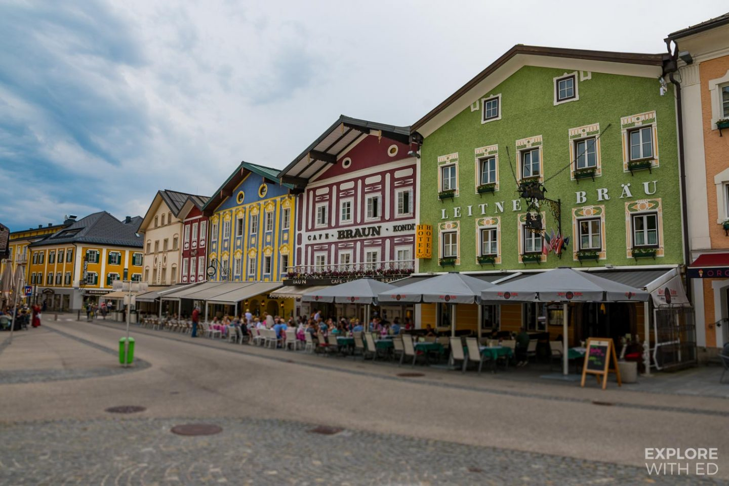 Cafes and restaurants in Mondsee, Austria