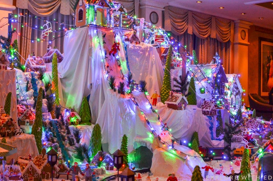 Cunard Christmas Village display