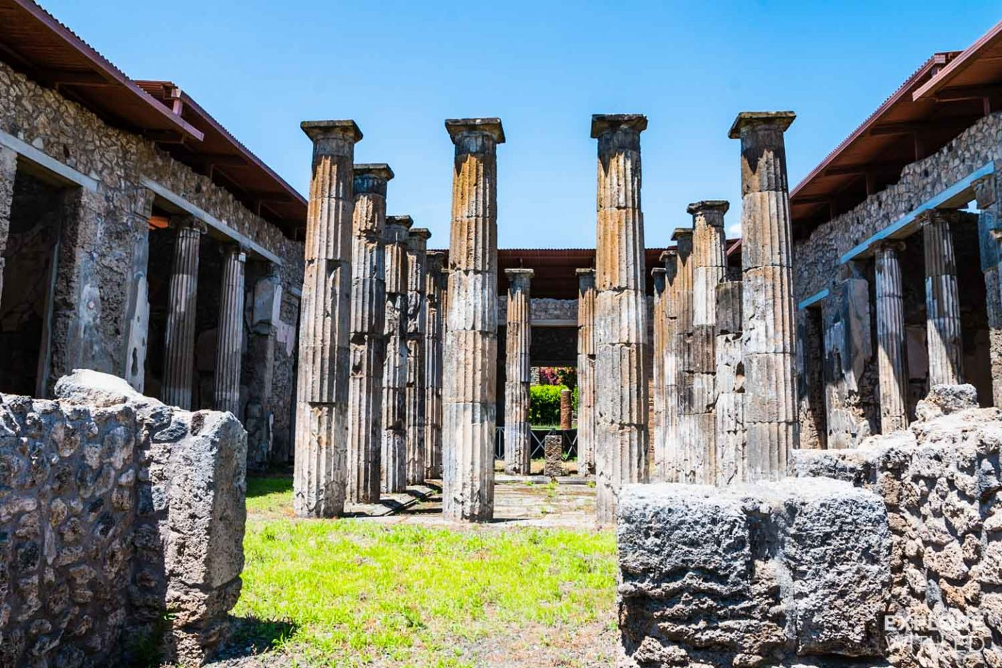 Ruins of a grand house in Pompeii