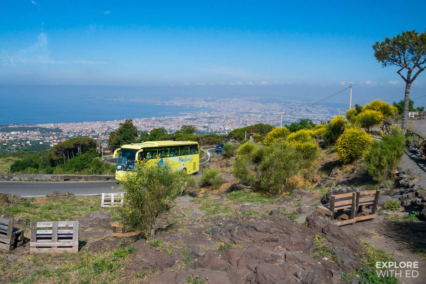 Shore excursion to Vesuvius and Pompeii by coach