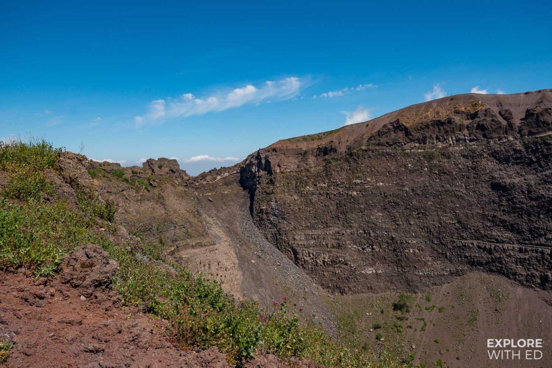 The top of Mount Vesuvius