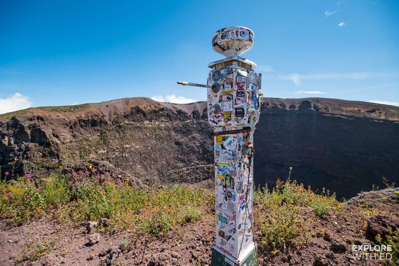 Seismometer on top of Mount Vesuvius