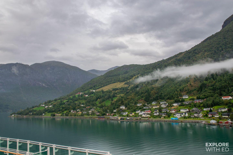 Departing the port of Olden, Norway