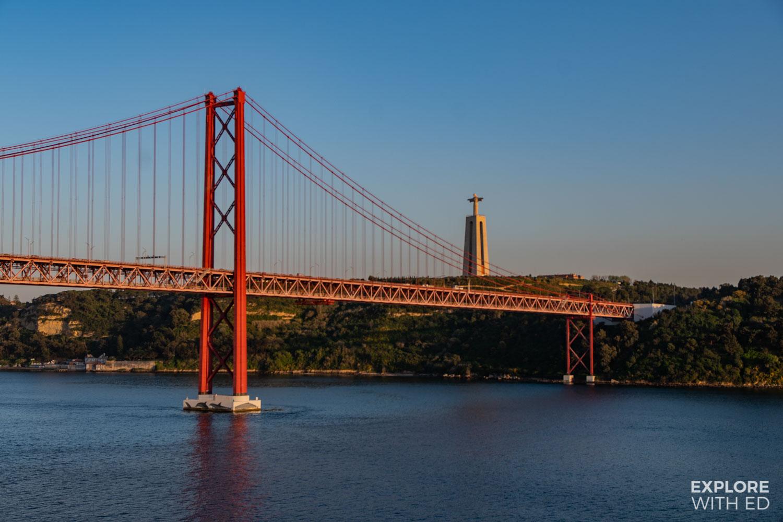 Cruising from Lisbon under the 25 de Abril bridge