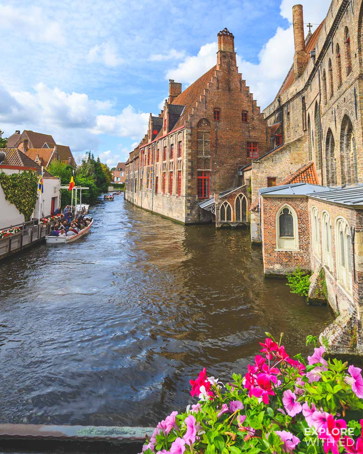 Canal tours in Bruges
