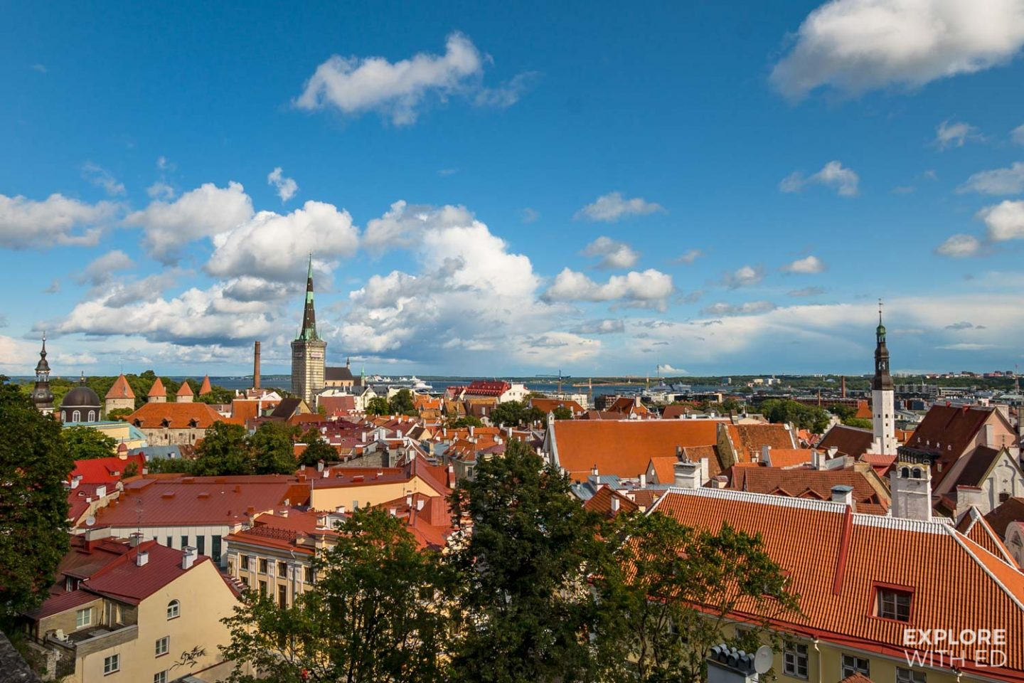 Rooftop view of Tallinn