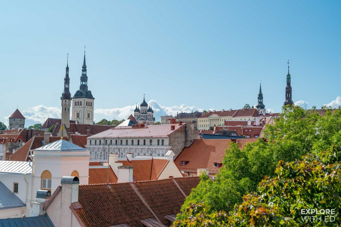 Rooftop view of Tallinn Estonia