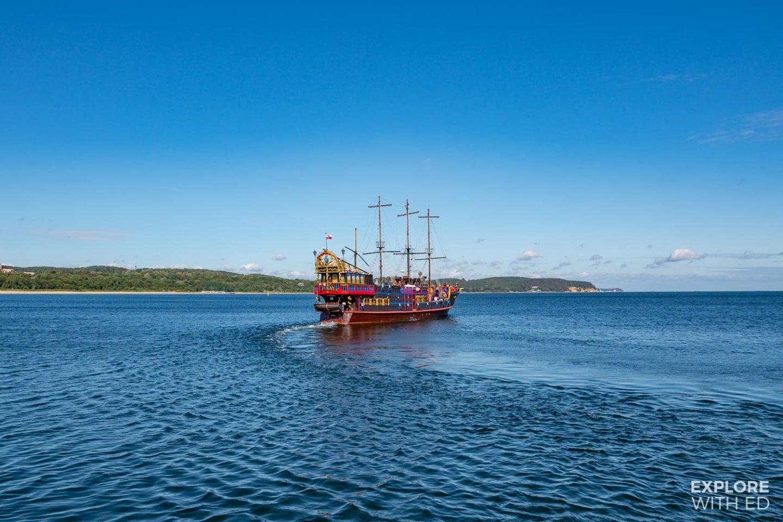 The Statek Pirat ship in Sopot, Poland