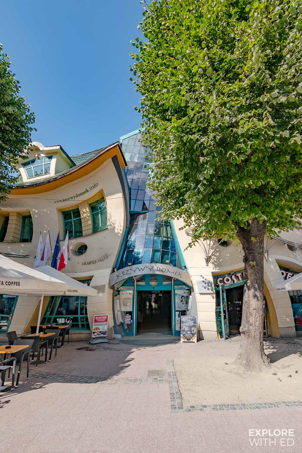 The Krzywy Domek - Crooked House in Sopot, Poland