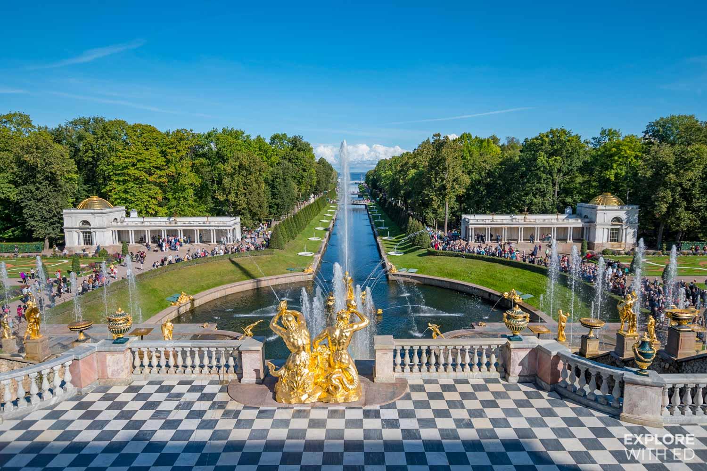 Sea view from Peterhof Palace