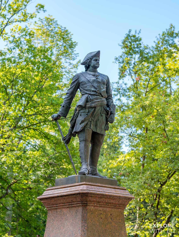 Statue of Peter The Great in Peterhof
