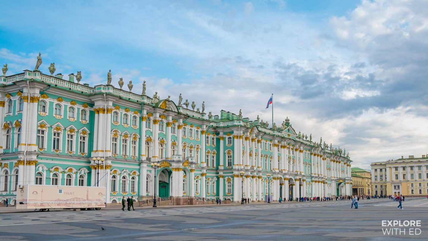 The Winter Palace entrance on the Palace Square