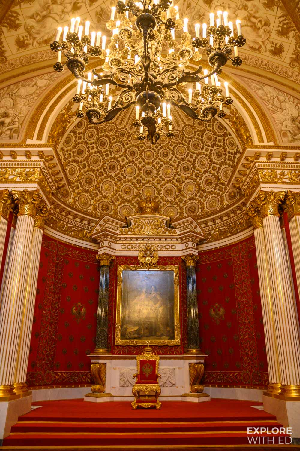 Throne Room in The Hermitage, Winter Palace