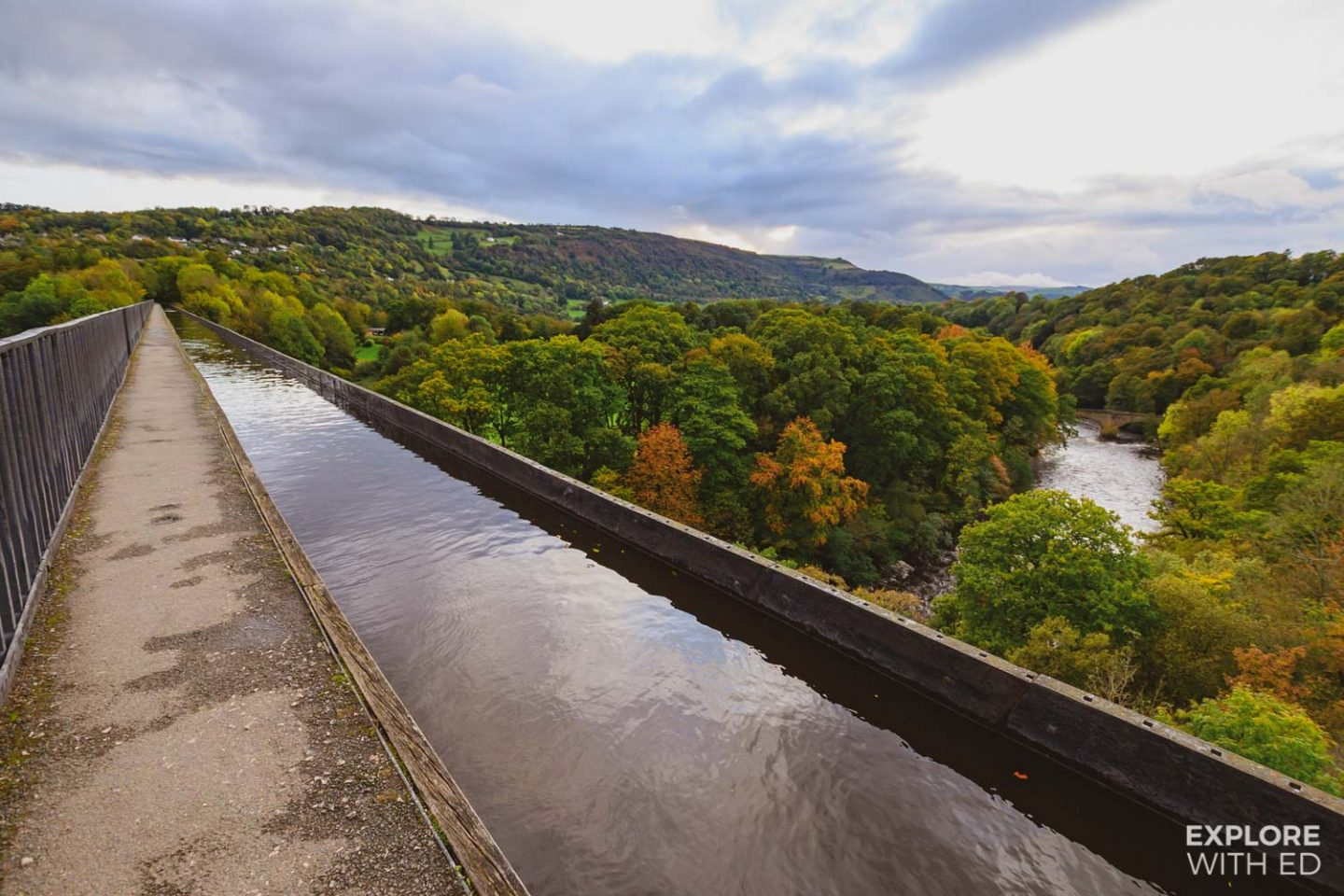 The Pontcysyllte Aqueduct in Wrexham, North Wales