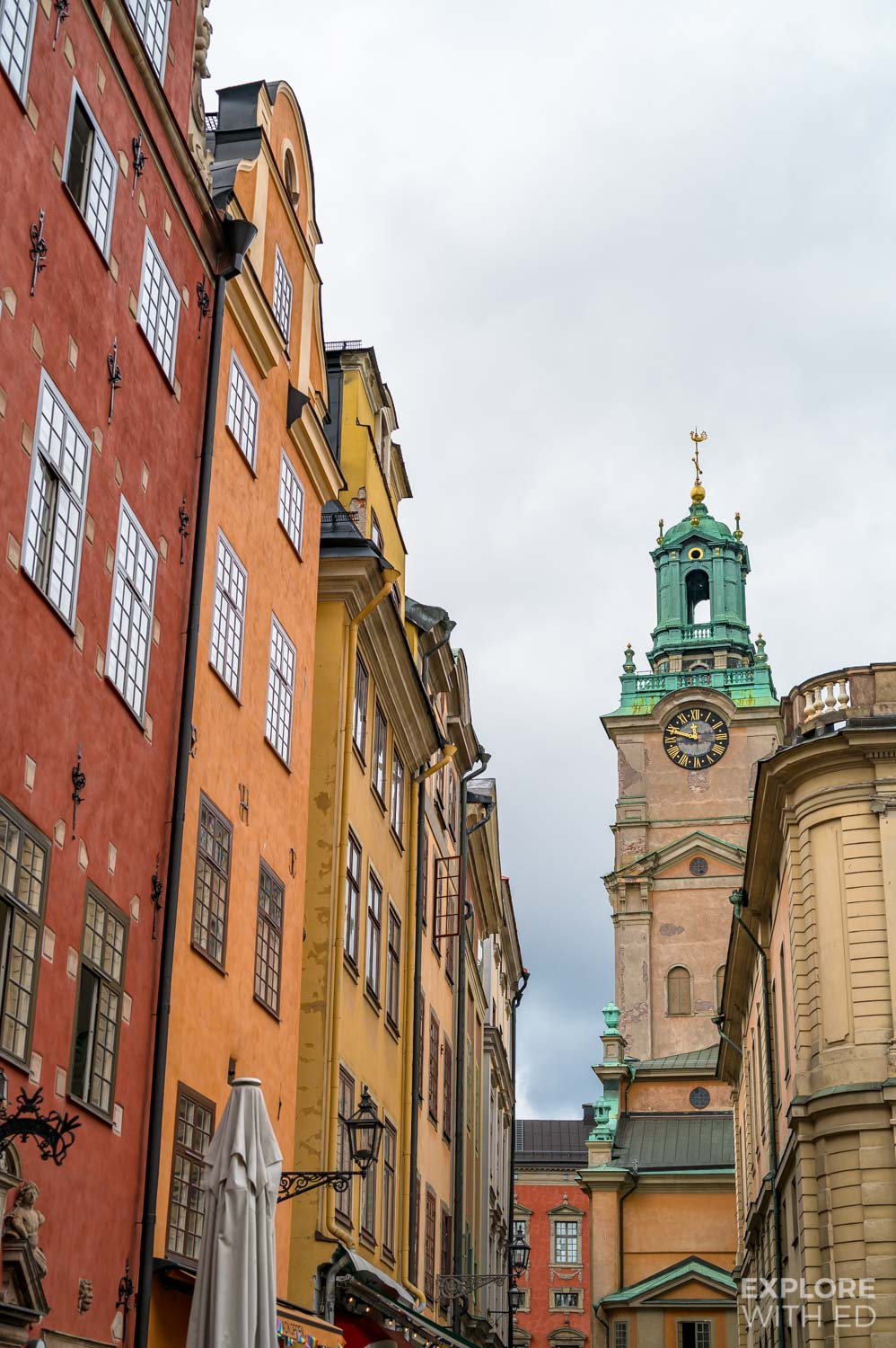 Colourful buildings in Gamla Stan, Stockholm